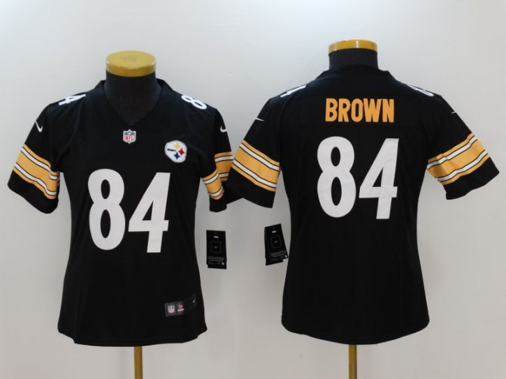 Women Pittsburgh Steelers 84 Brown Black Nike Vapor Untouchable Limited NFL  Jersey 9162d1807