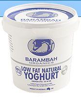 Low Fat Organic Yoghurt : Barambah Organics