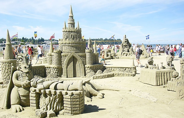 sandcastle competition mid july parksville beach