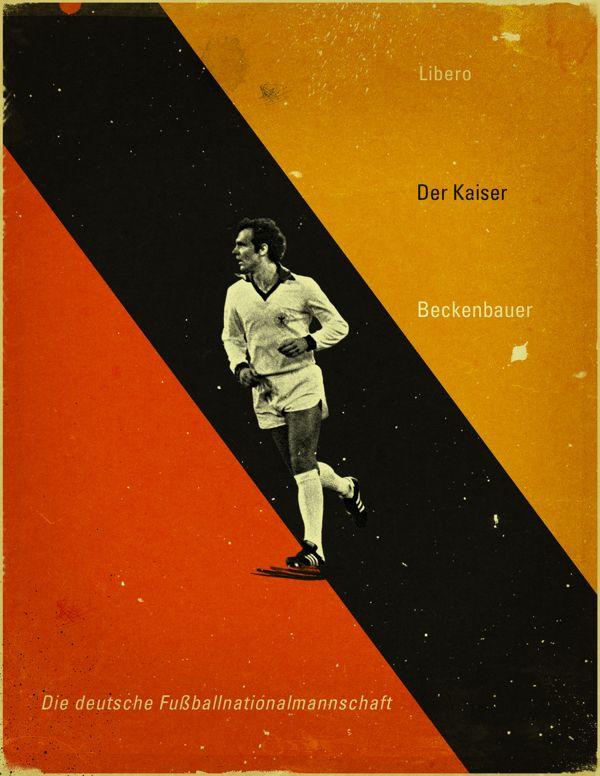 Famous Footballers By Jon Rogers Via Behance Soccer Poster