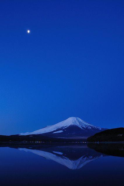 @PinFantasy - Mt. Fuji, Japan ~~ For more: - ✯ http://www.pinterest.com/PinFantasy/color-~-azul-blue/
