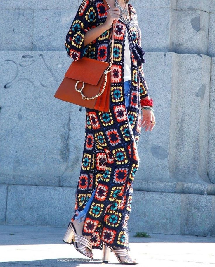 NWT ZARA Fashion Patchwork Crochet Multicolor Sweater Long Coat Size M Ref.9598/ #ZARA #WrapSwing