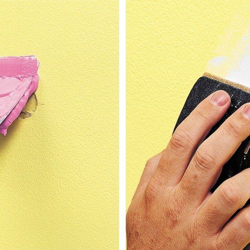 How to cover up holes in a wall