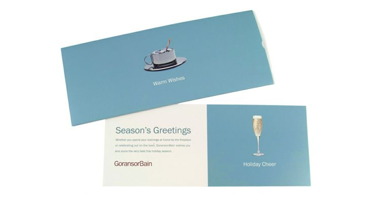 GoransonBain holiday direct mailer, designed by MasonBaronet