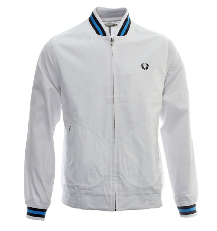 Fred Perry Jackets. Fred perry 'Re-Issues' White Tennis Bomber Jacket