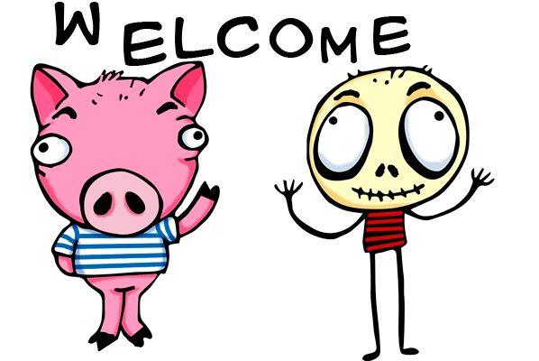 animación gif de saludo de bienvenida a mi blog: humordesese.blogspot.com.es