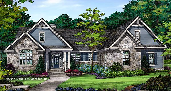 The Mayfair - Craftsman Ranch House Plan 1317