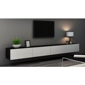 NaSmaak - Victor Zwevend Design TV Meubel Hoogglans - 280 cm