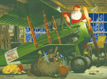 Spirit Of St Nick Santa With Airplane 1000 Piece Jigsaw