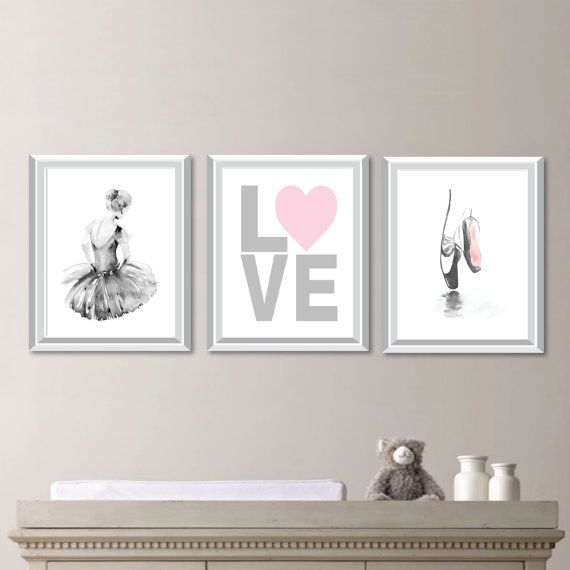 Baby Girl Nursery Art. Girl Nursery Decor.  Ballerina Nursery Art. Ballerina Bedroom Art. Ballerina Print. Ballerina Bedroom Art (NS-716)