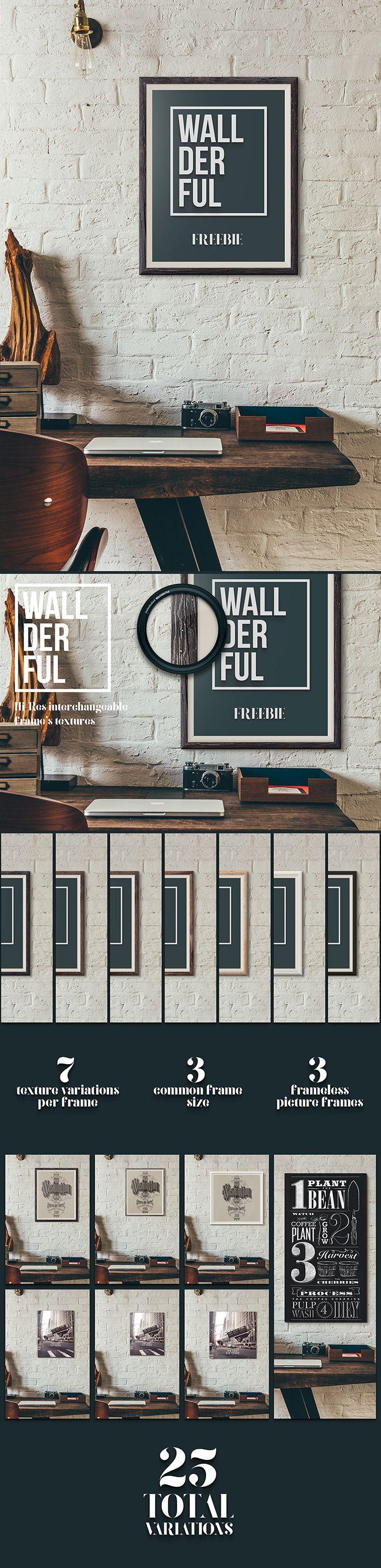 Wallderful: Free Frame Mockups (138 MB) | pixelbuddha.net