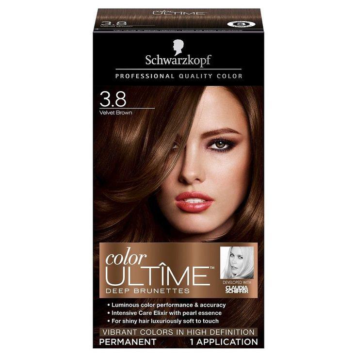 Schwarzkopf Color Ultime Deep Brunettes Hair Color 3.8 Velvet Brown - 2.03 oz