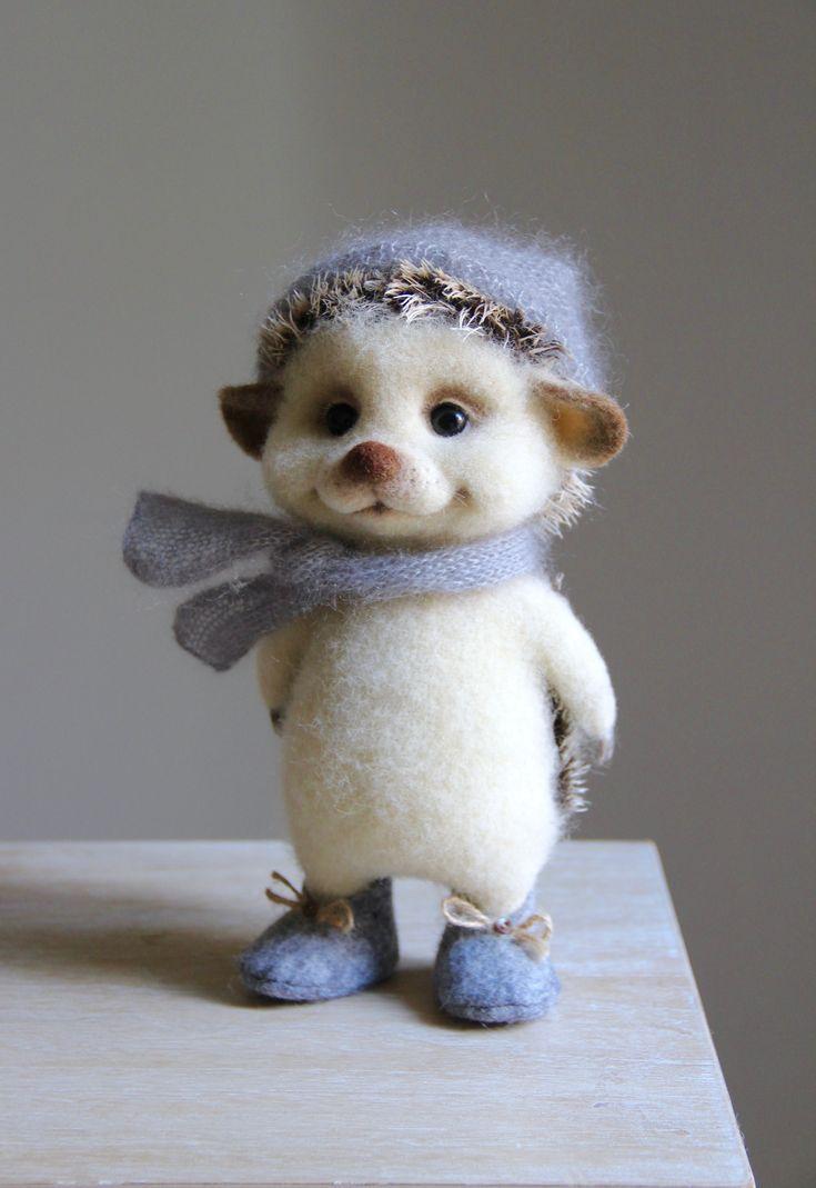Needle felted hedgehog