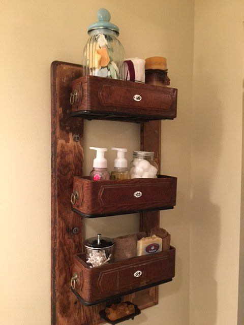 We never would have thought of doing this with an old piece of furniture!