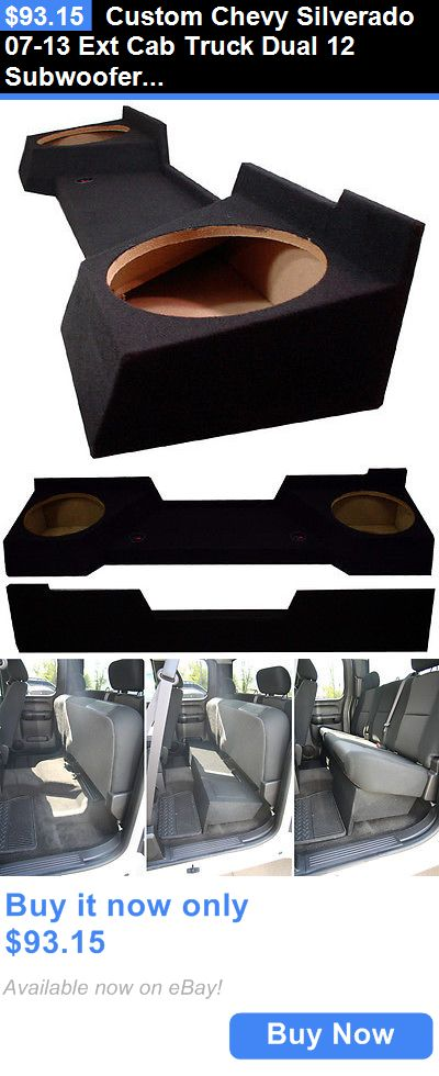 Speaker Sub Enclosures: Custom Chevy Silverado 07-13 Ext Cab Truck Dual 12 Subwoofer Sub Speaker Box BUY IT NOW ONLY: $93.15