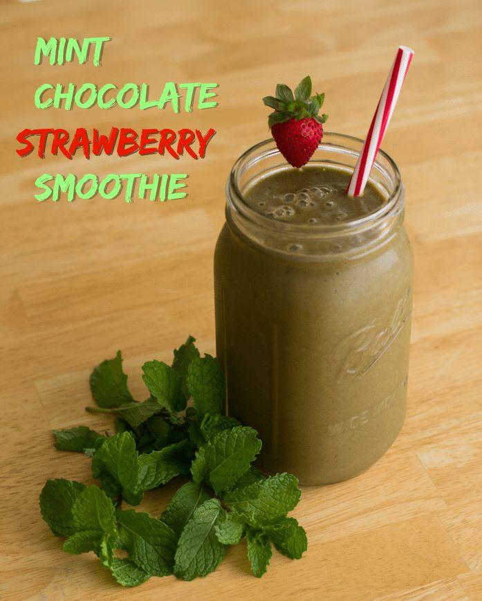 Mint Chocolate Strawberry Smoothie Recipe