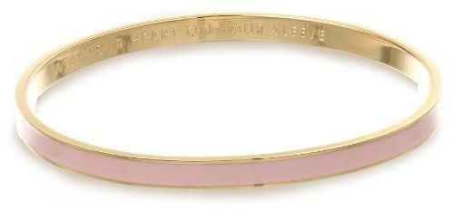 "Kate Spade New York ""Idiom Bangle Bracelets"" Wear Your Heart On Your Sleeve Bangle Bracelet, 2.25"" Kate Spade New York. $32.00. Made in China. Items that are handmade may vary in size, shape and color. Made in CN"