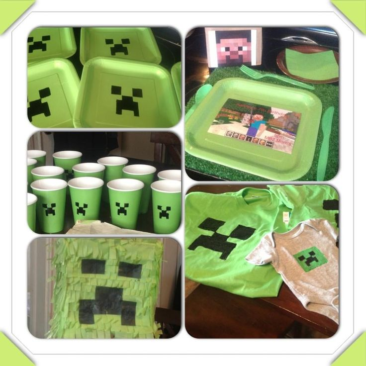 Easy ideas for a minecraft birthday