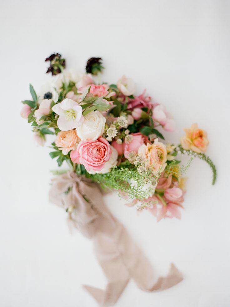 Spring-inspired wedding bouquet: La Jolla Beach Engagement Session
