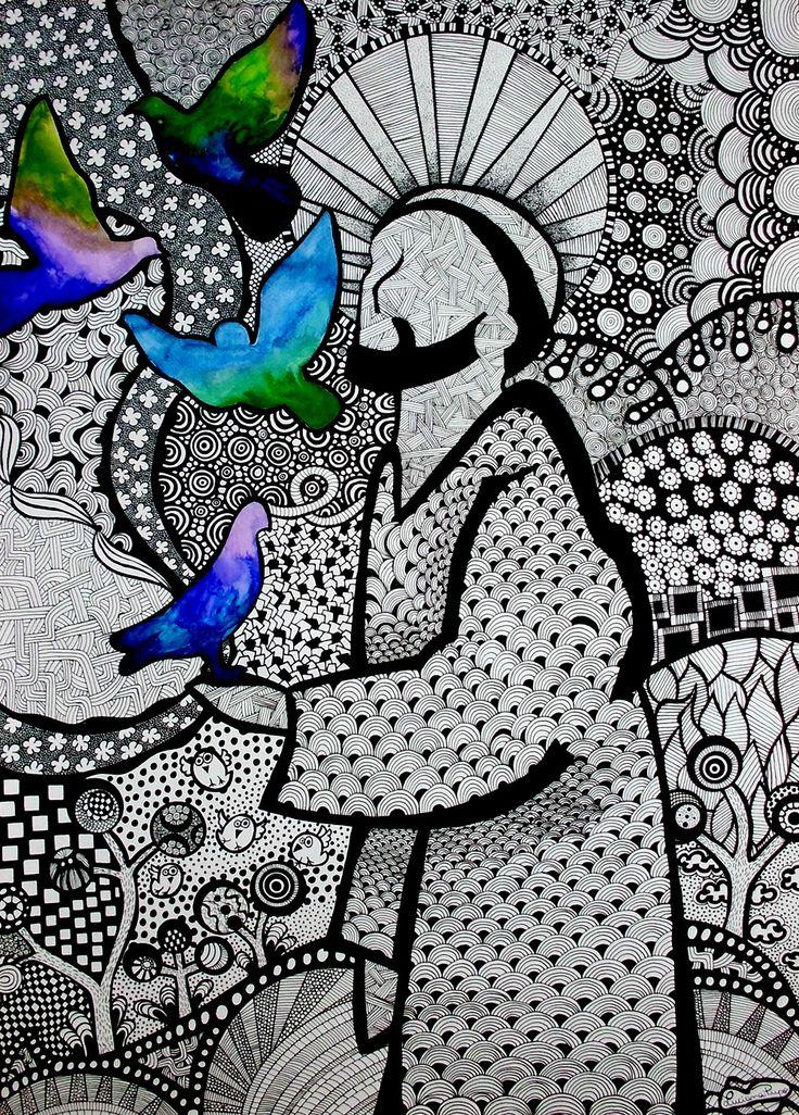 """""""São Francisco de Assis"""" by Luciana Pupo - @lucianapupoart (IG)"""