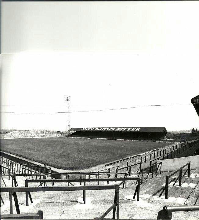 Oakwell, Barnsley in the 1970s.