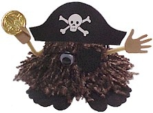 Pirate Yarn Bug everyone likes a pirate - use up some of your extra yarn to make this bug