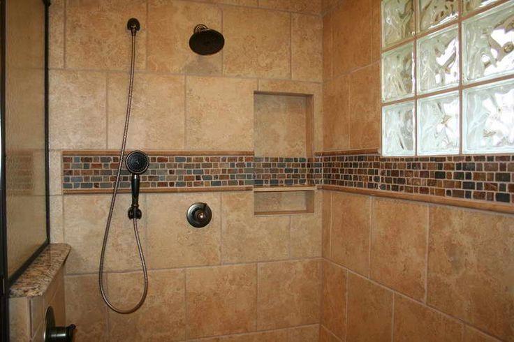 Tile Designs For Bathroom Showers ~ http://lovelybuilding.com/black-and-white-tile-designs-for-bathroom-floors/