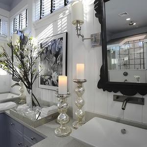 Mercury Glass Bathroom Accessories - Transitional - bathroom - Tracery Interiors