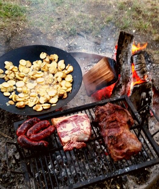 Meat and potatoes.  Patagonia, Argentina