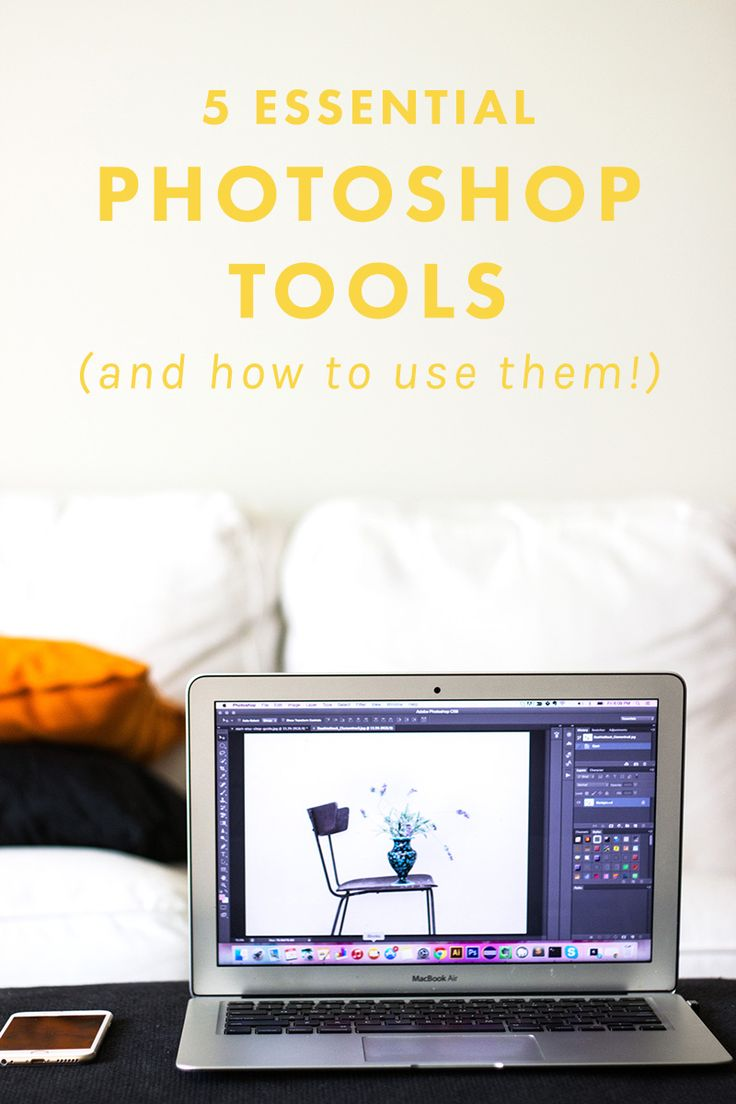 5 Essential Photoshop Tools To Edit Your Blog Photos With (And How to Use Them!) | Feel lost with Photoshop? This tutorial goes through five of our FAVorite tools to help you get the photos you wish you knew how to take with your camera. BOOM. | Blogging Tips | Photography | Design
