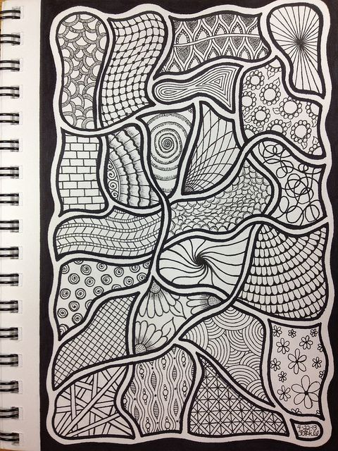 Zentangle | Flickr - Photo Sharing!  - #DRAW #ZENTANGLE #ZENDALA #TANGLE #DOODLE #BLACKWHITE #BLACKANDWHITE #SCHWARZWEISS