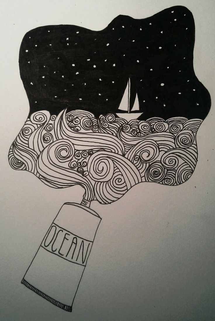 #Doodle by @DFlatMajor  #doodling #art #art journal #moleskine art #sea #sail…
