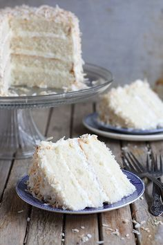 Southern Coconut Cake- I like the whipped cream mixed inbetween the layers- much lighter feeling than all buttercream
