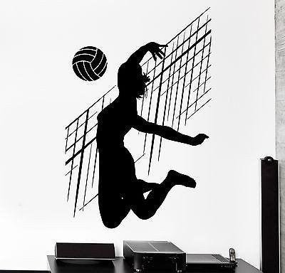 Wall Stcker Sport Volleyball Net Ball Woman Fitness Female Vinyl Decal (z3064)