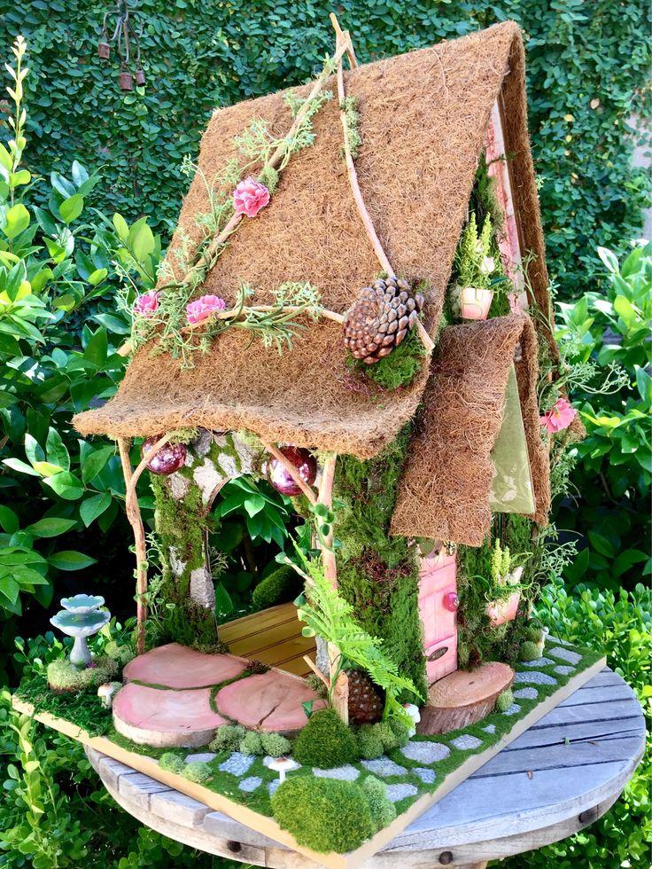 Woodland flower shop, Fairy Dollhouse, custom fairy cottage by TheBraceletHouse on Etsy https://www.etsy.com/listing/526194464/woodland-flower-shop-fairy-dollhouse
