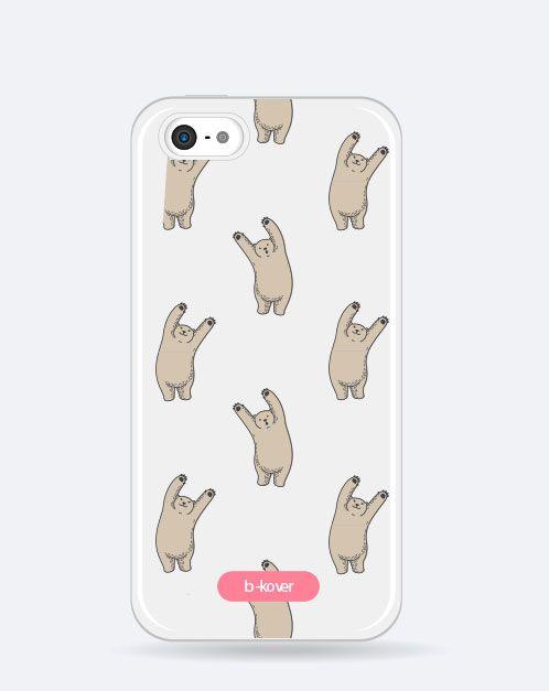Funda móvil transparente Cute Osos polares | b-Kover