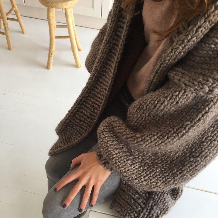 Sweter Big Love, taupe | Ellalu.pl