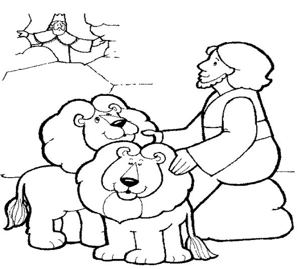 bible coloring pages lions - photo#7