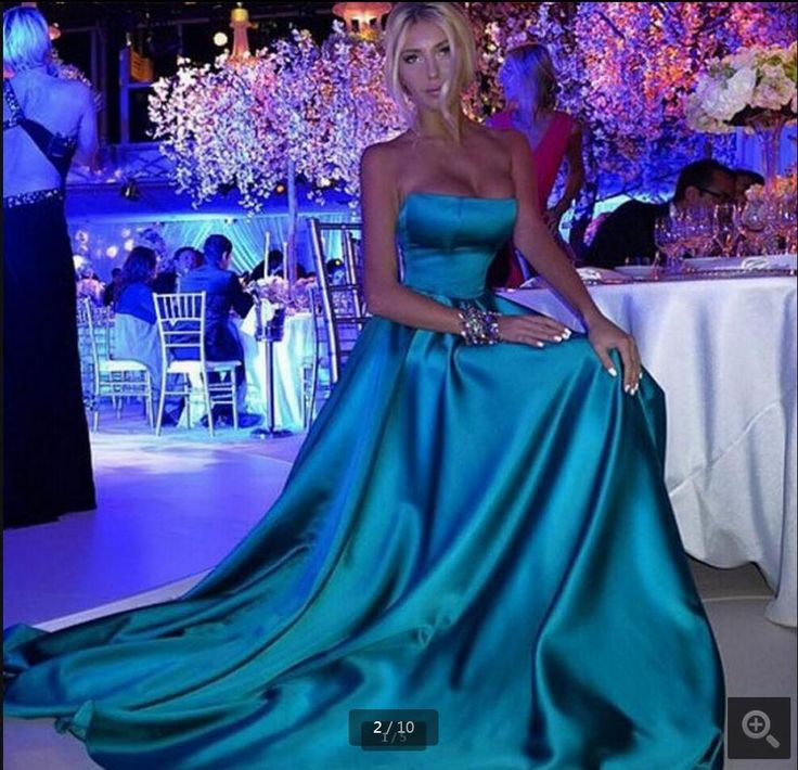 Fashion 2016 New Sexy Strapless Prom Dress a line Green Long Satin prom gowns sweetheart neck cheap prom dresses hot sale