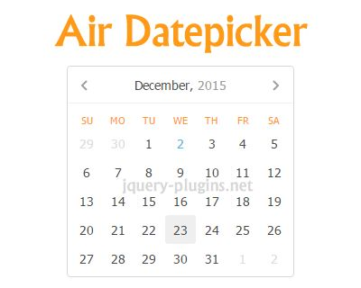 Air Datepicker – Lightweight Cool jQuery Datepicker #crossbrowser #datepicker #lightweight #jQuery #date #picker
