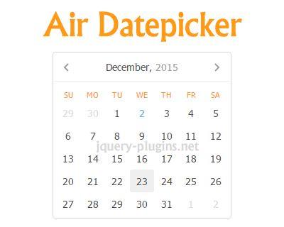 Air Datepicker – Lightweight Cool jQuery Datepicker #crossbrowser #datepicker #lightweight #jQuery #date #picker