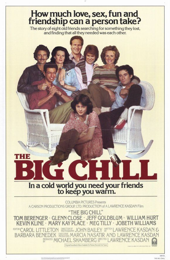 The Big Chill: Music, Film, Movie Posters, Soundtrack, Great Movie, Favorite Movies, Chill 1983, Watches, Big Chill