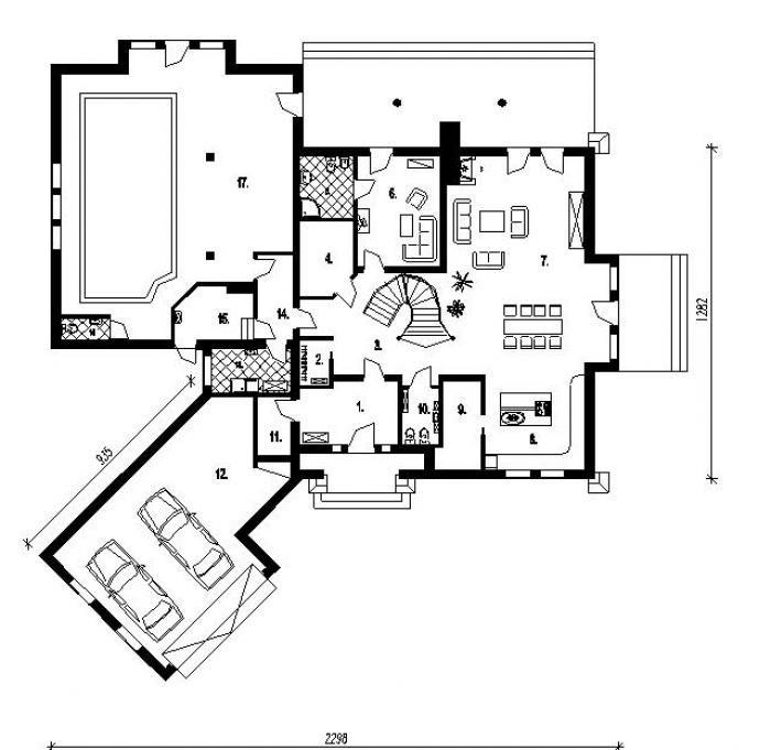 DOM.PL™ - Projekt domu PT HIDALGO CE - DOM PT7-69 - gotowy projekt domu