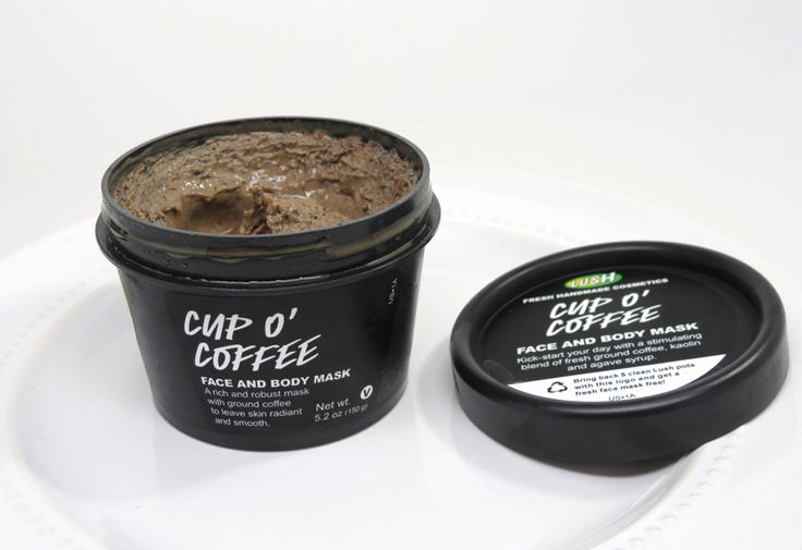 LUSH Cup O' Coffee Face & Body Mask. The best, most invigorating exfoliating mask I've ever used. I use it in the morning once or twice a week, & under my eyes as a mask a LOT.
