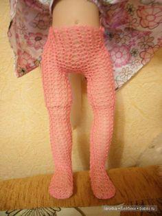 Вяжем для Гётц. Колготы / Мастер-классы, творческая мастерская: уроки, схемы, выкройки кукол, своими руками / Бэйбики. Куклы фото. Одежда для кукол