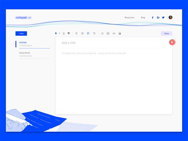 Notepad web app