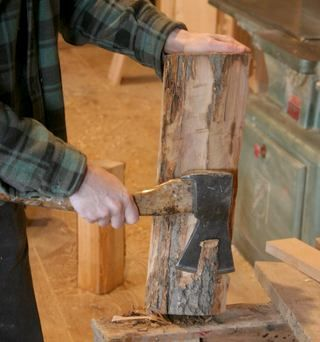 Reclaiming craft quality hardwood from firewood