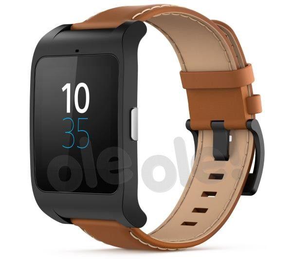 Sony Smart Watch 3 SWR50 (czarny - brązowa skóra), Zegarek Smart - cena i opinie - OleOle!