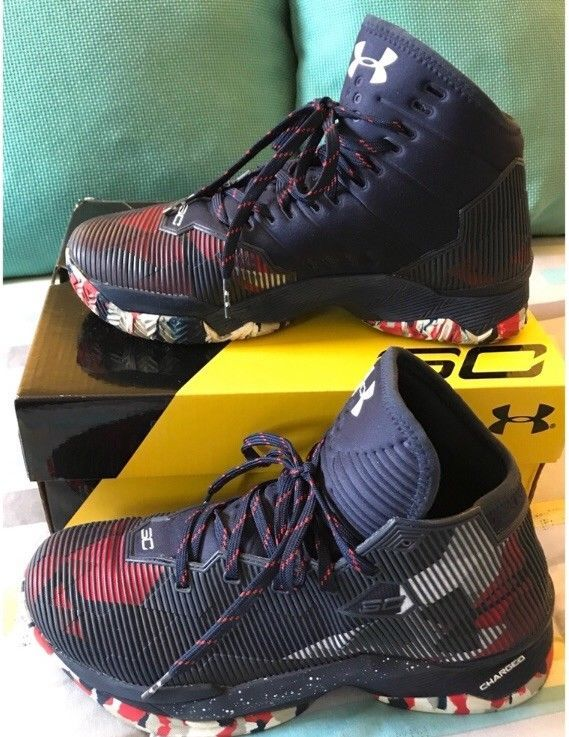 a85f308828b49 Size 8 Under Armour Curry 2.5 Red White And Blue Mens Basketball Shoes   fashion  clothing  shoes  accessories  mensshoes  athleticshoes  ad (ebay  link)