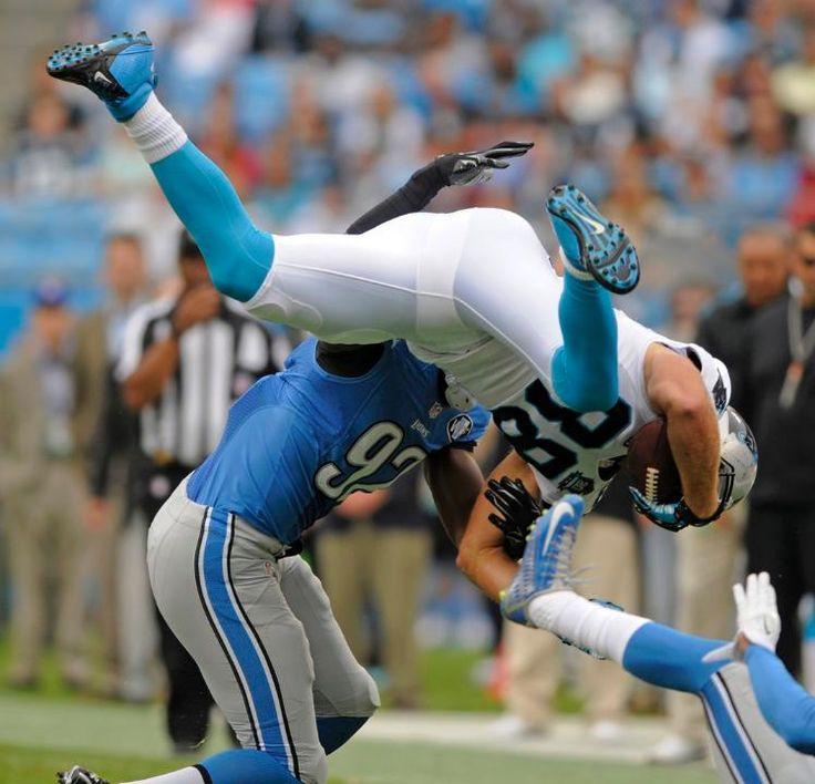 Lions Panthers Football Greg Olsen, Devin Taylor